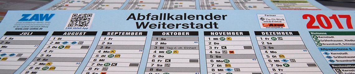 Abfallkalender Weiterstadt